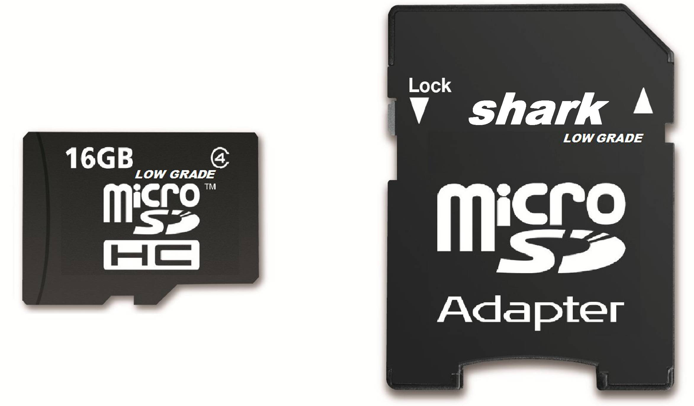 Shark Memory 16GB Class10 Micro SDHC Memory Card with SD Adapter