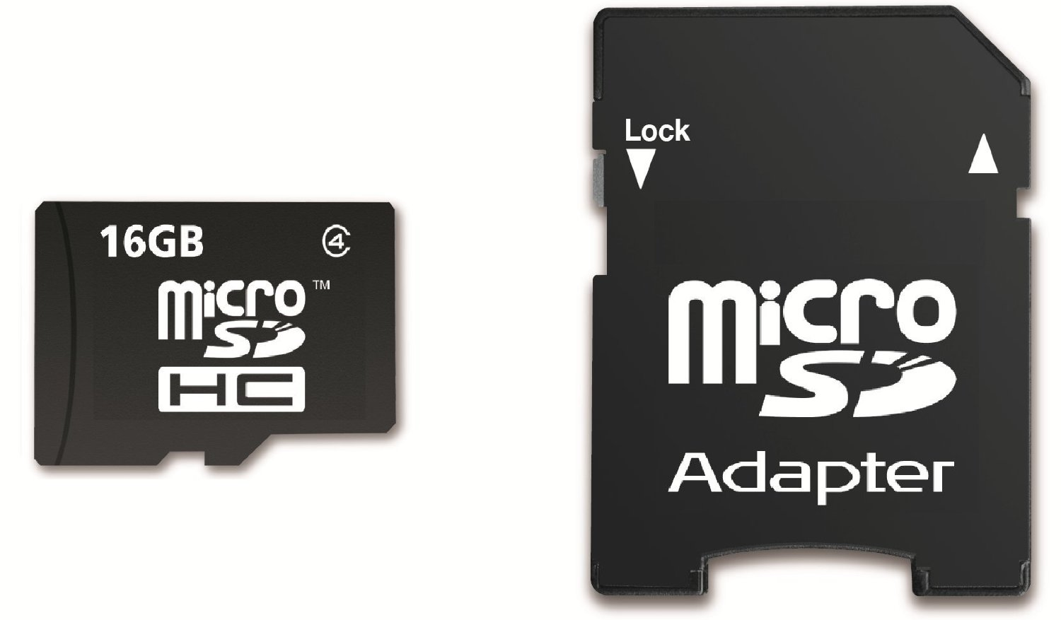 Shark 16GB Micro SDHC Memory Card with SD Adapter for Acer