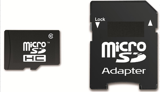 Qorr 32GB Class 4 Micro SDHC Memory Card with SD Adapter
